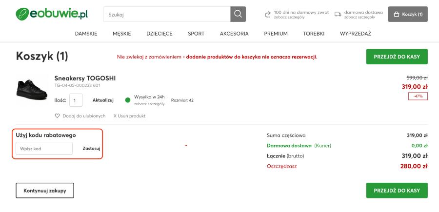 ceny detaliczne kupuję teraz świetne oferty Kody rabatowe eobuwie.pl - listopad 2019 | Rabatio.com