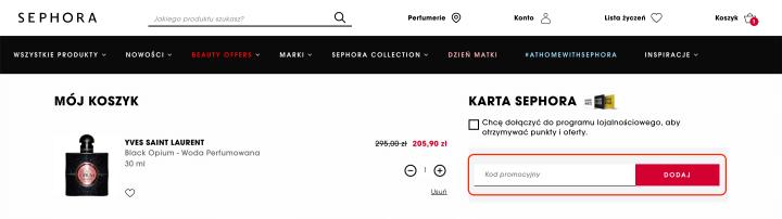 Kody rabatowe Sephora maj 2020 |